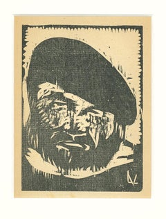 Fisherman - Original Woodcut by Lorenzo Viani - 1930 ca.