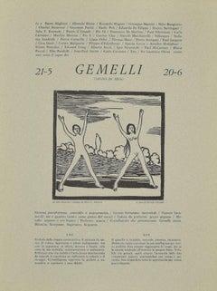 Gemini - Original Woodcut Print by P. C. Antinori - 20th Century