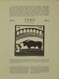 Taurus - Original Woodcut Print by P. C. Antinori - 20th Century