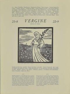 Virgo - Original Woodcut by P. C. Antinori - 20th Century