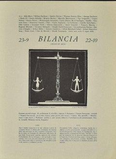 Libra - Original Woodcut by P. C. Antinori - 1970s