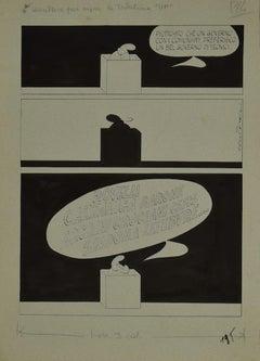 Political Comics - Original Comic Strip by Alfredo Chiappori - 1977