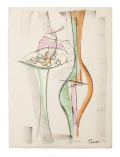 Still Life - Original Lithograph by Emmanuel Poirier - 1950