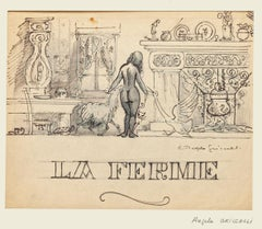 La Ferme - Original Work on Paper by Angelo Griscelli - 20th Century