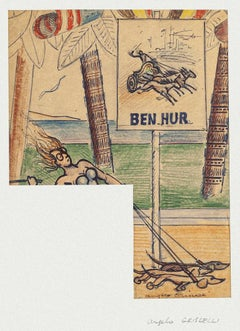 Ben-Hur - Original Mixed Media by Angelo Griscelli - Mid-20th Century