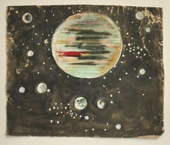 The Space - Original Mixed Media on Paper by Jean Delpech - 1953