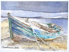 Boat - Original Watercolor by Michele Scarano - 2010s