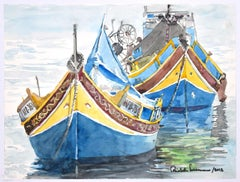 Boat - Original Watercolor by Michele Cascarano - 2010s