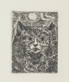 Cat - Original Etching by Giampaolo Berto - 20th Century