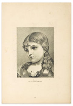 Woman - Original Zincography by U.Seifert - 1905
