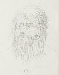 Head of Man - Original Pencil Drawing by Eugène Berman - 1950s