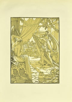 The Speech - Original Lithograph by F. Bac - 1922