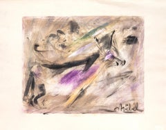 Composition - Original Mixed Media by Edgar Stoebel - 1970s