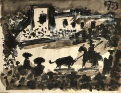 Homage to Picasso - Original Mixed Media on Paper by Giampaolo Berto - 1975