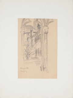 Gate - Original Pencil on Paper by Werner Epstein - 1925