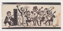 Musicians - China Mixed Media on Paper by Willem Van Hasselt - 1930s