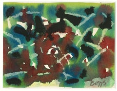 Abstract - Original Watercolor by Charles Boggs - 1970s
