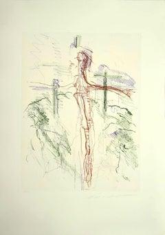 Figure - Original Lithograph by Ernesto Treccani - 1970s