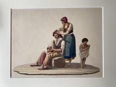 Lice - Original Gouache on Paper - 19th Century