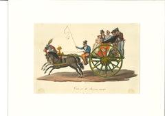 Galesso di Resina Casale - Original Gouache - by Michela De Vito - 19th Century