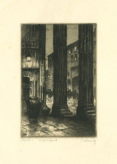Assisi - Original Etching by Paolo Menni - 20th Century
