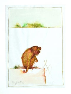 The Monkey - Original Ink and Watercolor by Leo Guida - 1971