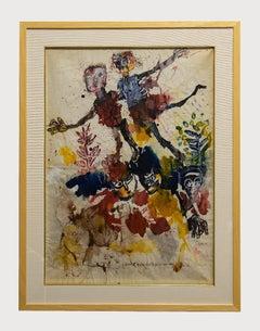 Homage to Klee - Original Tempera and Watercolor by Sergio Barletta - 1960s
