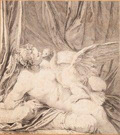 Leda and the Swan - Original Etching - 18th century