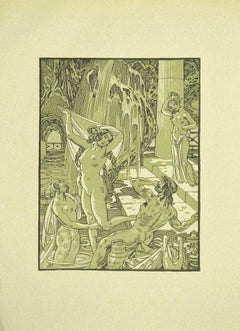 Allegory of Water - Original Lithograph by Ferdinand Bac - 1922