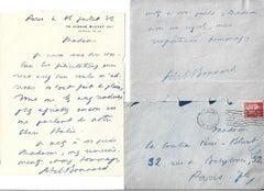 Confidential Autograph Letters by Abel Bonnard - 1930's