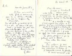 Grand Pavois - Correspondence - Maurice Estève and Nesto Jacometti - 1956
