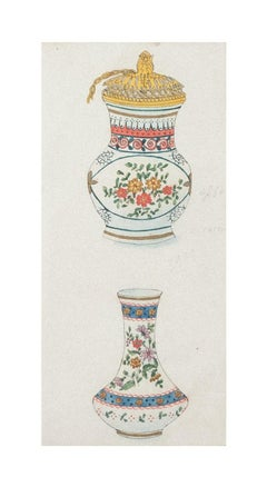 Two Vases - Original Mixed Media - Early 20th Century
