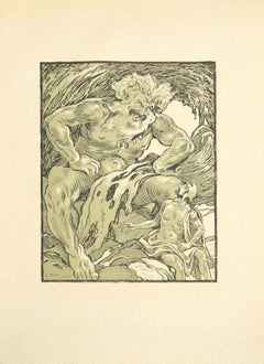 The Giant - Original Lithograph by Ferdinand Bac - 1922