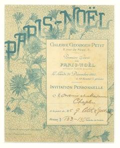 Invitation of Premiere Soiree Paris Noel - Lithograph by George Petit - 1883