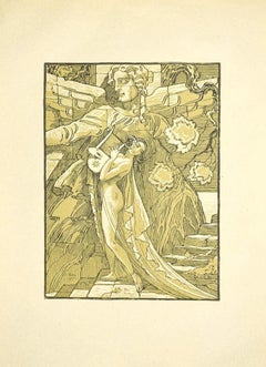 The Sensual Musician - Original Lithograph by Ferdinand Bac - 1922