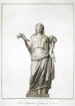 Livia Augusta in Forma di Cerere - Etching by A. Mochetti After A. Tofanelli