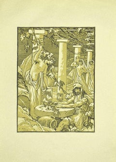 The Soldier and the Bacchants - Original Lithograph by Ferdinand Bac - 1922
