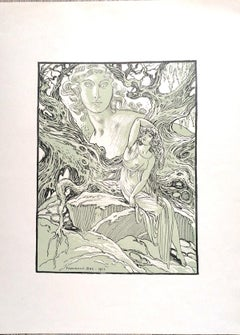 The Goddess - Original Lithograph by Ferdinand Bac - 1923