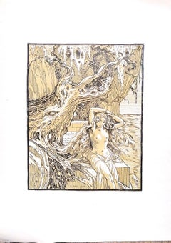The Siren - Original Lithograph by Ferdinand Bac - 1922