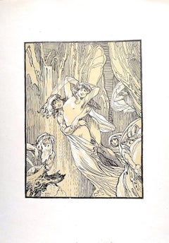 The Crying Women - Original Lithograph by Ferdinand Bac - 1922