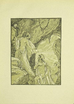 Ulysses and the Sorceres  - Original Lithograph by Ferdinand Bac - 1922