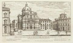Chiesa del Gesù di Roma - Original Etching by Giovambattista Falda - 1665