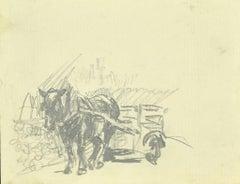 Horse - Original Pencil Drawing - 1880s