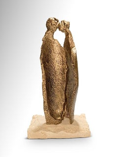 Whisper - Original Metallic Sculpture by Fero Carletti - 2020