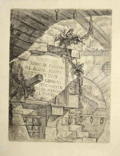 "Frontispiece from ""Carceri d'Invenzione - Etching by G. B. Piranesi - 1749/59"