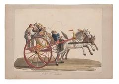Galesso di Resina Casale - Original Gouache by Michela De Vito - 19th Century
