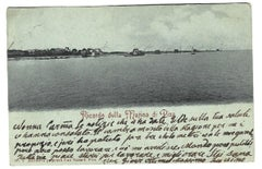 Memories from Marina di Pisa Autograph -Postcard Signed by Giovanni Costa - 1899