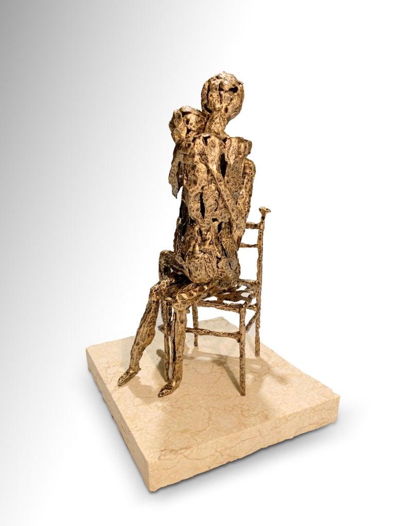Tenderness - Original Metallic Sculpture by Fero Carletti - 2020 For Sale 2