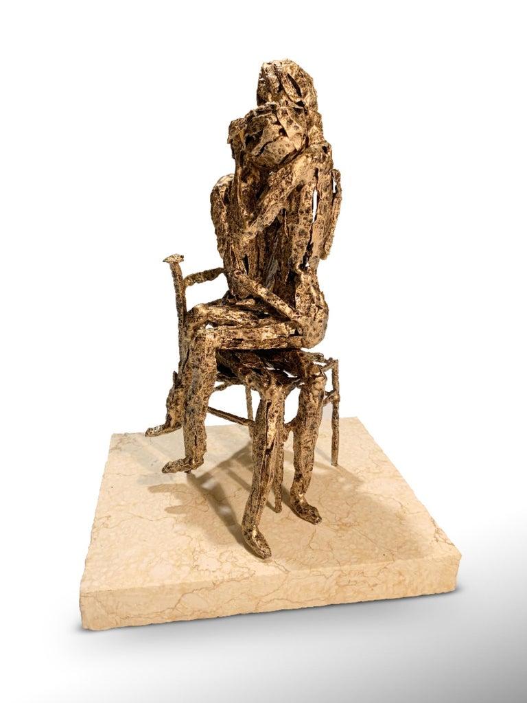 Tenderness - Original Metallic Sculpture by Fero Carletti - 2020 For Sale 3