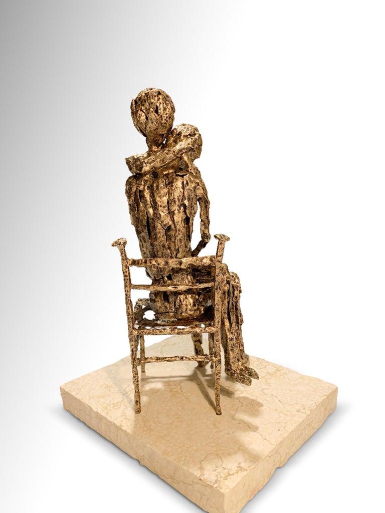 Tenderness - Original Metallic Sculpture by Fero Carletti - 2020 For Sale 1